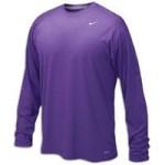 Nike Purple Legend Long Sleeve Performance Shirt