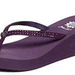 Yellow Box Women's Custard Sandal (9 B(M) US, Aubergine (Purple))