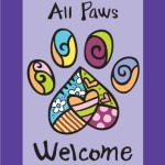 Toland Home Garden All Paws Welcome 12.5 x 18-Inch Decorative USA-Produced Garden Flag