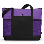Gemline Select Zippered Tote – Purple