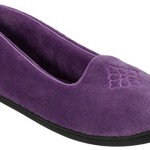 Dearfoams Womens Velour Solid Moccasin Slippers Large Purple