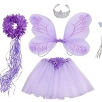 Purple 5 Piece Fairy Princess Costume Set