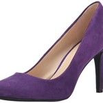 Nine West Women's Handjive Suede Dress Pump, Dark Purple, 6 M US