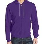 Fruit of the Loom Men's Full-Zip Hooded Sweatshirt, Purple, Medium