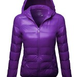 The Lightweight Puffer Hood Jacket Purple Velvet Size L