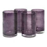 Artland Iris Highball Glasses, Plum, Set of 4