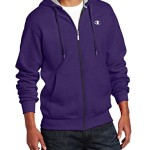 Champion Men's Full-zip Eco Fleece Jacket Hoodie, Mystic Purple, Large