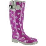 Cotswold Ladies Dog Paw Wellington / Womens Boots (10 US) (Purple)