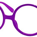 FancyG® Retro Geek Nerd Style Round Shape Glass Frame NO LENSES – Purple
