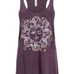 Vintage Purple Sun & Moon Yoga Loose Fit Tank Top T-Shirt – Size X-Large