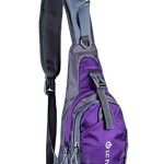 LC Prime® Sling Bag Chest Shoulder Unbalance Gym Fanny Backpack Sack Satchel Outdoor Bike nylon fabric purple 1