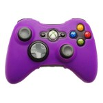 HDE Xbox 360 Silicone Wireless Controller Skin Protective Rubber Case Cover for Microsoft Xbox 360 Game Pad (Purple)