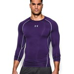 Under Armour Men's HeatGear Long Sleeve Compression Shirt, Purple (500), Large