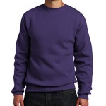 Russell Athletic Men's Dri Power Fleece Crewneck Sweatshirt, Purple, X-Large