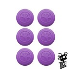 Grip-iT Analog Stick Covers for PS4, PS3, Xbox One, & Xbox 360 (6-Pack Purple)