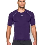 Under Armour Men's HeatGear Short Sleeve Tee, Purple (500), Large