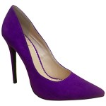 Wild Rose Women's Hanna01C Purple Pointed Toe Stiletto Suede Pumps 9