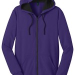 District Men's Warmth Concert Fleece Full-Zip Hoodie Purple M