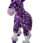 Plush Purple Giraffe Stuffed Toy with extra leg support