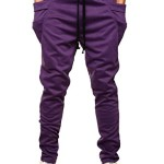 HEMOON Mens Jogging Pants Tracksuit Bottoms Training Running Trousers Purple S