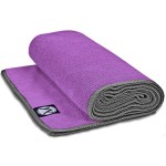 Yoga Towel 24″ x 72″ by Youphoria Yoga (Purple Towel / Gray Stitching) – Improve Mat Grip During Bikram, Ashtanga, and Hot Yoga Sessions – Ultra Absorbent, Machine Washable Microfiber, Yoga Mat Length Towels – Stop Slipping, Order Today!