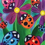 Toland Home Garden Colorful Ladybirds and Ladybugs 28 x 40-Inch Decorative USA-Produced House Flag