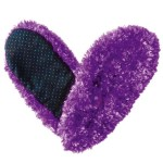 Fuzzy Footies Super Soft Slippers with Slip-Resistant Bottom – One Size Fits Most (Purple)