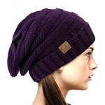 NYfashion101 Exclusive Oversized Baggy Slouchy Thick Winter Beanie Hat – Dark Purple