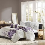 Home Essence Chloe 4-Piece Bedding Set, Queen, Purple
