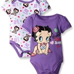 Betty Boop Baby Soft Two Pack Bodysuit, Purple, 0-3 Months