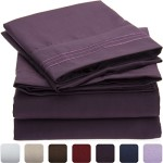 Mellanni Bed Sheet Set – HIGHEST QUALITY Brushed Microfiber 1800 Bedding – Wrinkle, Fade, Stain Resistant – Hypoallergenic – 4 Piece (Queen, Purple)