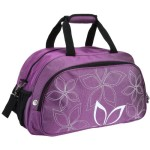 20″ Fashionable Flowers Pattern Purple Sports Gym Tote Bag Travel Carryon