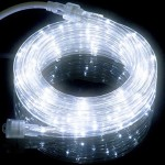 18FT Cool White LED Flexible Rope Light Kit for Indoor / Outdoor Lighting, Home, Garden, Patio, Shop Windows, Christmas, New Year, Wedding, Birthday, Party, Event