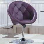 Coaster 102581 Round-Back Swivel Chair, Purple