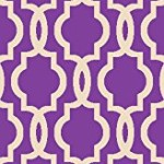 Rubber Backed 21″ x 60″ Fancy Moroccan Trellis Purple & Ivory Runner Non-Slip Rug – Rana Collection Kitchen Dining Living Hallway Bathroom Pet Entry Rugs RAN204PRL-25