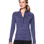 Under Armour Women's Tech 1/2 Zip Twist Shirt, Europa Purple/Metallic Silver, Large