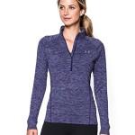 Under Armour Women's Tech 1/2 Zip Twist Shirt, Europa Purple/Metallic Silver, Large