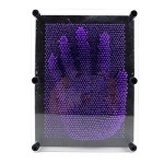 Adorox Plastic Pin Art Board Novelty Toy Fun Kids Multiple Colors Sizes (7 inches, Purple)