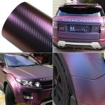 Aumo-mate 12 x 60 inch (300x 1520 mm) Purple&Blue Car Chameleon Wrap Auto Carbon fiber Wrapping Film Vehicle Change color Sticker Roll Motorcycle Decal Sheet Tint Vinyl Air Bubble Free