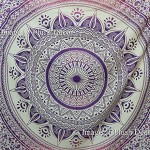 Glorious Unique Color Shade Purple-pink Large Queen Mandala Tapestry (85×94 Inches) Ombre Psychedelic Tapestries Medallion Bohemian Wall Hanging