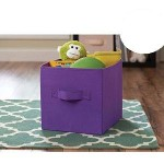 Better Homes and Gardens Collapsible Fabric Storage Cube – Purple