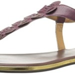 Nine West Women's Kickback Leather Dress Sandal, Purple, 8 M US