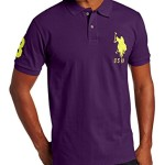U.S. Polo Assn. Men's Solid Short Sleeve Pique Polo, Majesty Purple, Large