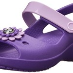 crocs Keeley Mini Wedge Girls PS Sandal (Toddler/Little Kid),Neon Purple/Iris,7 M US Toddler