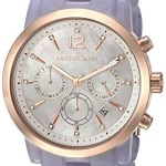 Michael Kors Women's MK6312 Audrina Rose Gold-Tone Watch with Purple Resin Band