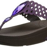 FitFlop Women's Bijoo Thong Sandal,Pomp Purple,9 M US