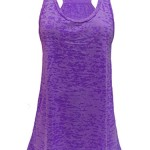 Cloya Ladies Flowy Racerback Tank (Purple Burnout, L)