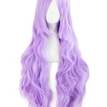 MapofBeauty 32″ 80cm Light Purple Long Hair Curly Wavy Wig Cosplay Costume Wig