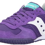 Saucony Originals Women's Bullet Classic Retro Running Shoe, Purple/Green, 9.5 M US
