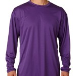A4 Men's Cooling Performance Crew Long Sleeve T-Shirt, Purple, X-Large